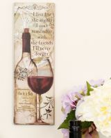 Fabulous French Vintage Styled 'Wine' Wall Plaque